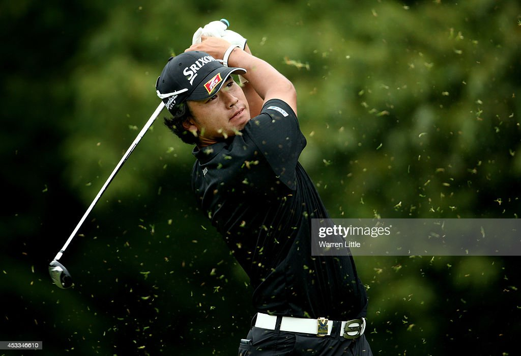<a gi-track='captionPersonalityLinkClicked' href=/galleries/search?phrase=Hideki+Matsuyama&family=editorial&specificpeople=5566852 ng-click='$event.stopPropagation()'>Hideki Matsuyama</a> of Japan hits a tee shot on the fourth hole during the second round of the 96th PGA Championship at Valhalla Golf Club on August 8, 2014 in Louisville, Kentucky.