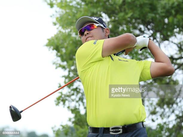 Hideki Matsuyama of Japan hits a tee shot on the sixth hole during the first of a threeday roundrobin group match at the world golf championship Dell...