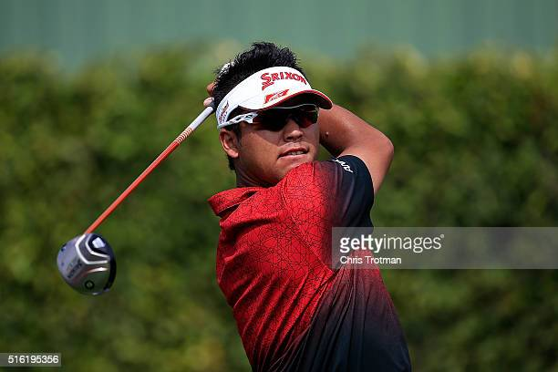 Hideki Matsuyama of Japan hits his tee shot on the ninth hole during the first round of the Arnold Palmer Invitational Presented by MasterCard at Bay...