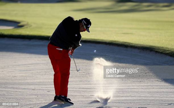 Hideki Matsuyama of Japan plays his second shot on the par 4 10th hole during the first round of the 2017 Arnold Palmer Invitational presented by...