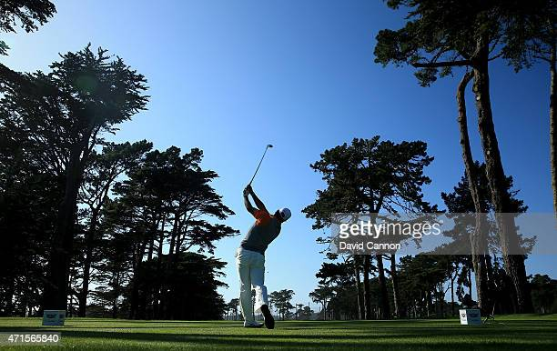 Hideki Matsuyama of Japan plays his tee shot at the par 4 11th hole during round one of the World Golf Championship Cadillac Match Play at TPC...
