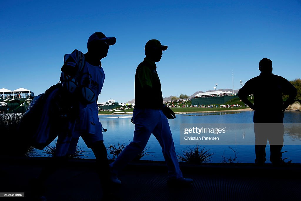 <a gi-track='captionPersonalityLinkClicked' href=/galleries/search?phrase=Hideki+Matsuyama&family=editorial&specificpeople=5566852 ng-click='$event.stopPropagation()'>Hideki Matsuyama</a> of Japan walks along the 17th hole during the final round of the Waste Management Phoenix Open at TPC Scottsdale on February 7, 2016 in Scottsdale, Arizona.