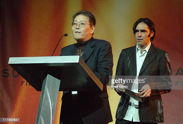 Hideki Modeki and Carlos Bolado during 2007 Sundance Film Festival Awards Ceremony Show at Raquet Club Theatre in Park City Utah United States