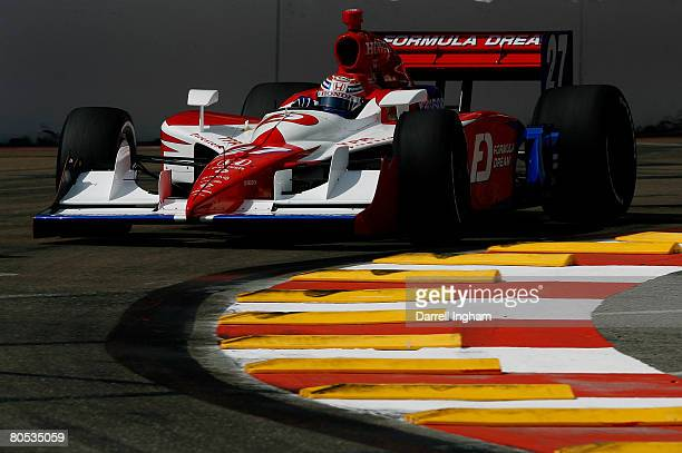 Hideki Mutoh drives the Andretti Green Racing Dallara Honda during qualifying for the IRL IndyCar Honda Grand Prix of St Petersburg on April 5 2008...