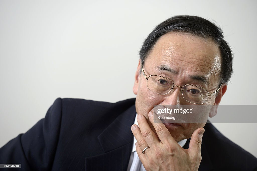 Hideo Egawa, chairman and chief executive officer of Mitsubishi Aircraft Corp., pauses during an interview in Tokyo, Japan, on Friday, March 8, 2013. Mitsubishi Heavy Industries Ltd.'s aircraft unit is set to reap the benefits of a weakening yen after securing more than $4 billion of contracts for a new jet when the currency was near a record high against the dollar. Photographer: Akio Kon/Bloomberg via Getty Images