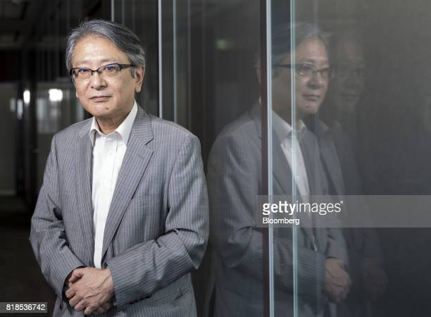 Hideo Hayakawa senior executive fellow at Fujitsu Research Institute speaks during an interview in Tokyo Japan on Friday July 14 2017 Weak inflation...