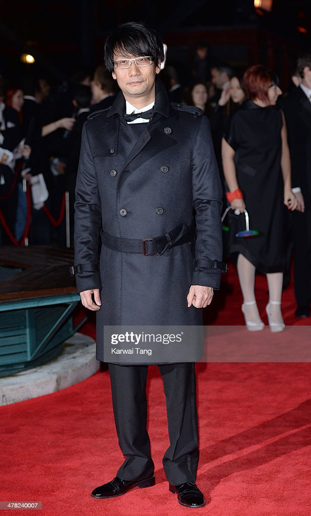 Hideo Kojima attends the 2014 British Academy Games Awards at Tobacco Dock on March 12, 2014 in London, England.