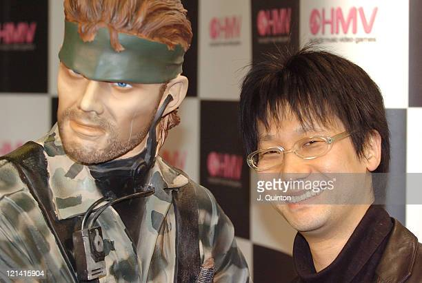 Hideo Kojima during Hideo Kojima Launches 'Metal Gear Solid 3 Snake Eater' at HMV Oxford Street in London Great Britain