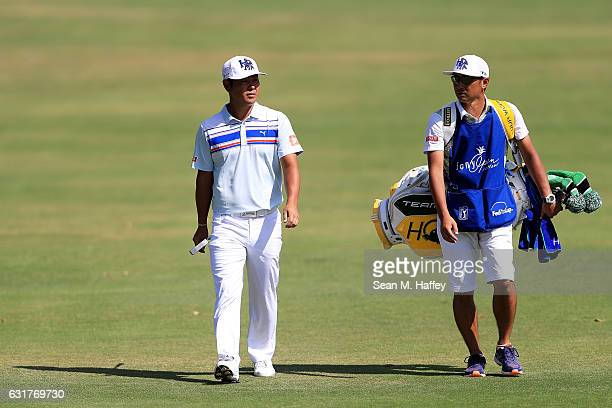 Hideto Tanihara of Japan walks on the third hole during the final round of the Sony Open In Hawaii at Waialae Country Club on January 15 2017 in...