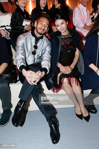 Hidetoshi Nakata and Actress Ko Shibasaki attend the Louis Vuitton show as part of the Paris Fashion Week Womenswear Fall/Winter 20142015 on March 5...