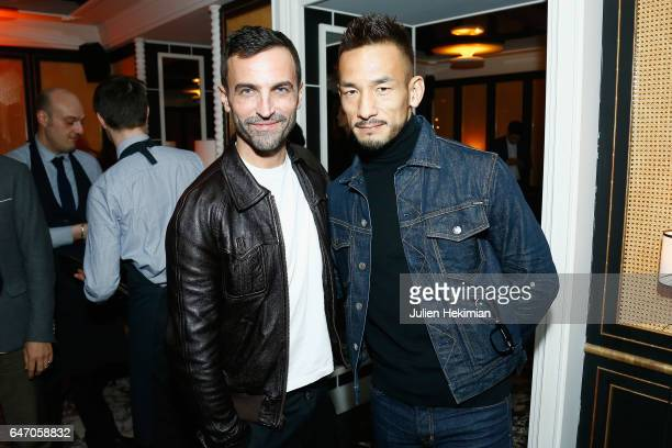 Hidetoshi Nakata and Nicolas Ghesquiere attend the Mastermind Magazine launch dinner as part of Paris Fashion Week Womenswear Fall/Winter 2017/2018...