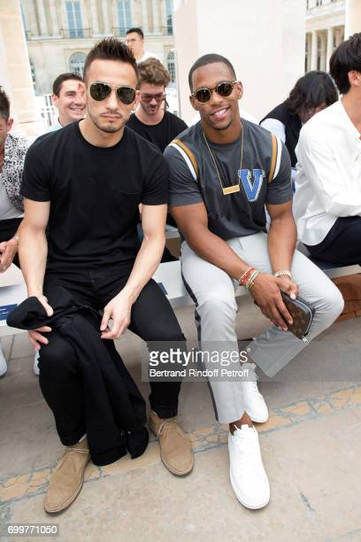 Hidetoshi Nakata and Victor Cruz attend the Louis Vuitton Menswear Spring/Summer 2018 show as part of Paris Fashion Week on June 22 2017 in Paris...