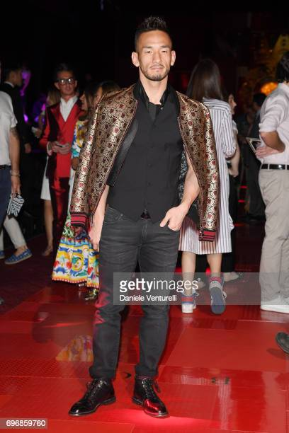 Hidetoshi Nakata attends the Dolce Gabbana show during Milan Men's Fashion Week Spring/Summer 2018 on June 17 2017 in Milan Italy