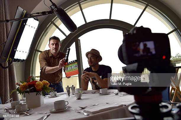 Hidetoshi Nakata attends the Golden Foot Interviews Day at Monte Carlo Bay hotel on October 12 2014 in MonteCarlo Monaco