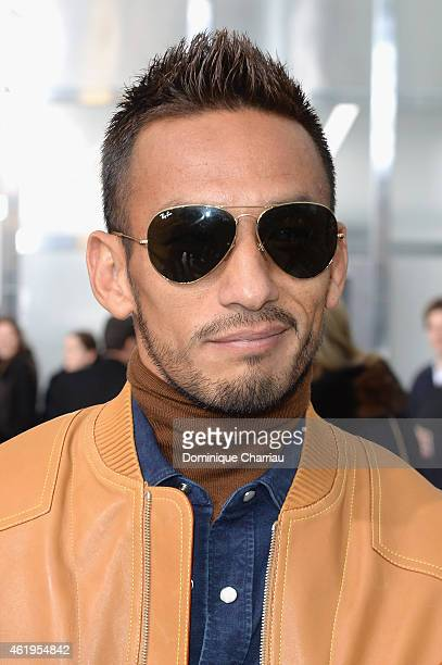 Hidetoshi Nakata attends the Louis Vuitton Menswear Fall/Winter 20152016 Show as part of Paris Fashion Week on January 22 2015 in Paris France