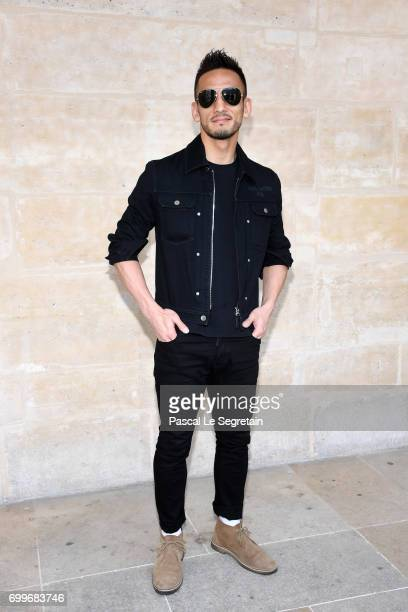 Hidetoshi Nakata attends the Louis Vuitton Menswear Spring/Summer 2018 show as part of Paris Fashion Week on June 22 2017 in Paris France