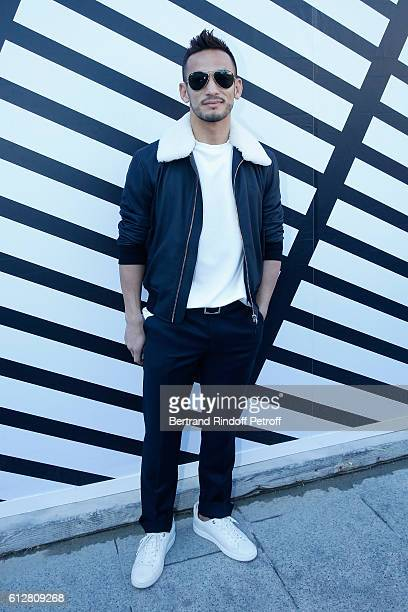 Hidetoshi Nakata attends the Louis Vuitton show as part of the Paris Fashion Week Womenswear Spring/Summer 2017 on October 5 2016 in Paris France