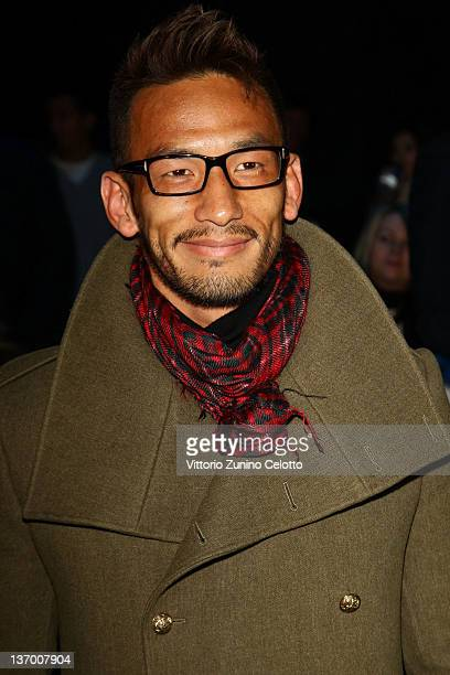 Hidetoshi Nakata attends the Roberto Cavalli fashion show as part of Milan Fashion Week Menswear Autumn/Winter 2012 on January 14 2012 in Milan Italy