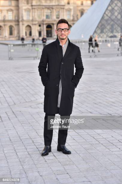 Hidetoshi Nakata is seen arriving at Louis Vuitton fashion show during the Paris Fashion Week Womenswear Fall/Winter 2017/2018 on March 7 2017 in...
