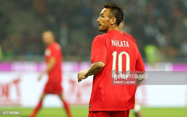Hidetoshi Nakata looks on during the Zanetti and friends Match for Expo 2015 at Stadio Giuseppe Meazza on May 4 2015 in Milan Italy