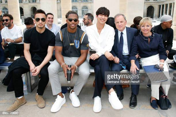 Hidetoshi Nakata Victor Cruz Gong Yoo Chief Executive Officer of Louis Vuitton Michael Burke and his wife Brigitte Burke attend the Louis Vuitton...