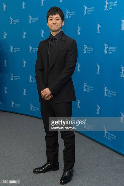 Hidetoshi Nishiima attends the 'While the Women Are Sleeping' photo call during the 66th Berlinale International Film Festival Berlin at Grand Hyatt...