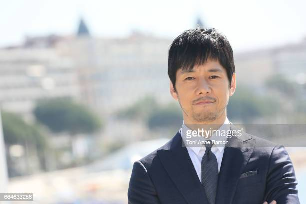 Hidetoshi Nishijima attends 'Crisis' Photocall during MIPTV 2017 on April 4 2017 in Cannes France