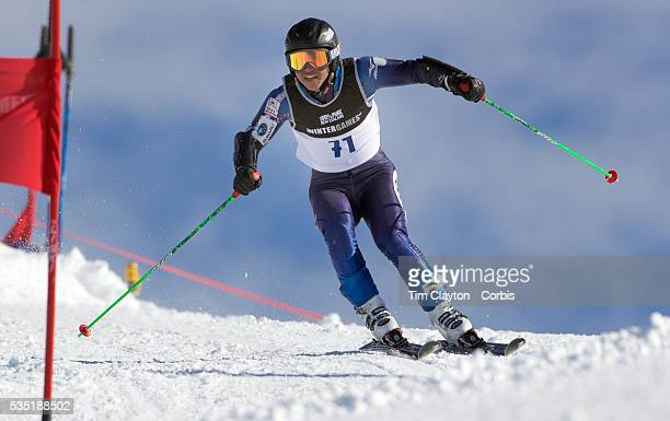 Hideyuki Narita Japan in action during the Men's Giant Slalom competition at Coronet Peak New Zealand during the Winter Games Queenstown New Zealand...