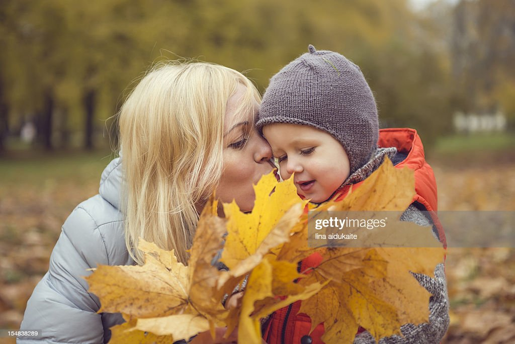 hiding behind the autumn : Stock Photo