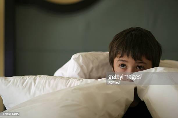Hiding boy