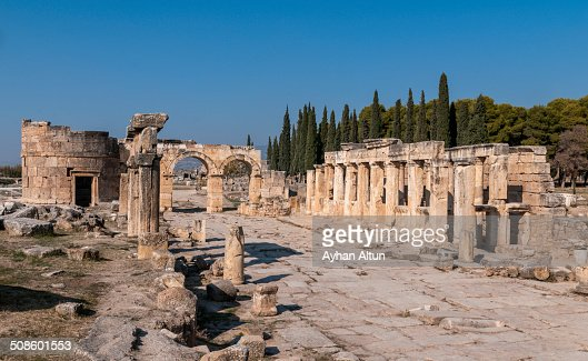 Hierapolis Antique city in Denizli : Foto de stock