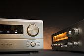 Hi-Fi receivers in studio shot