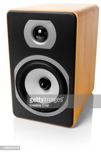 Hi-Fi speaker on white background : Stock Photo