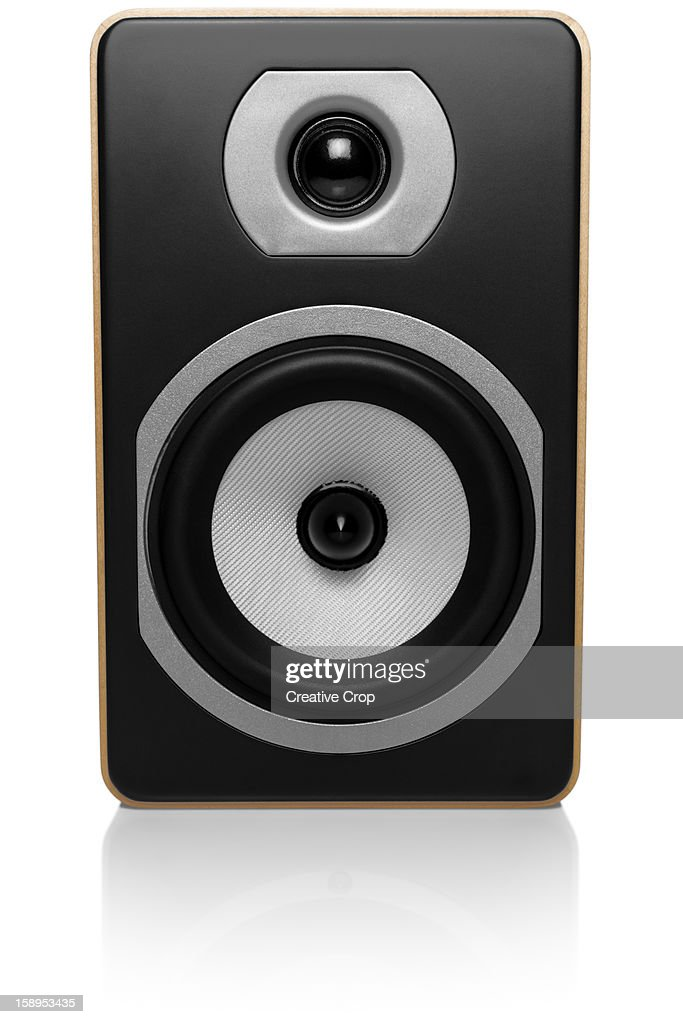 Hi-Fi speaker on white background : Stock Photo