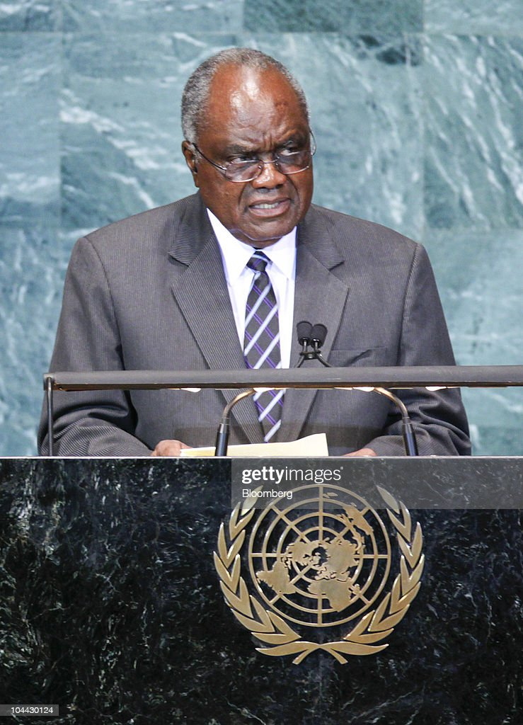 <a gi-track='captionPersonalityLinkClicked' href=/galleries/search?phrase=Hifikepunye+Pohamba&family=editorial&specificpeople=863215 ng-click='$event.stopPropagation()'>Hifikepunye Pohamba</a>, president of Namibia, speaks during the 65th annual United Nations General Assembly at the UN in New York, U.S., on Friday, Sept. 24, 2010. The General Debate portion of the General Assembly runs until Sept. 29. Photographer: Andrew Harrer/Bloomberg via Getty Images