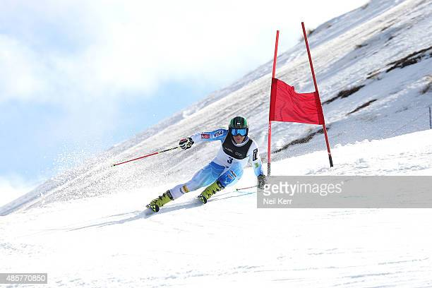 Hig Roberts of the United States competes in the Alpine Giant Slalom FIS Australia New Zealand Cup during the Winter Games NZ at Coronet Peak on...