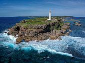 Lighthouse on East Henna Cape, Miyakojima Island, Japan