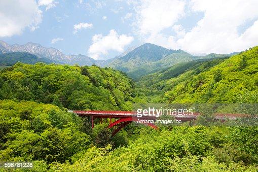 Higashizawa Bridge And Yatsugatake Mountains Yamanashi