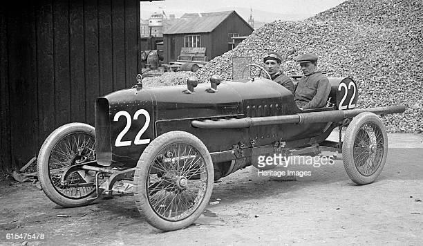 J Higginson's 3308 cc Vauxhall at the RAC Isle of Man TT race 10 June 1914 Vauxhall 3308 cc Event Entry No 22 Driver Higginson J Retired lap 1 Team...