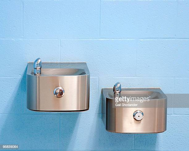 High and Low Drinking Fountains