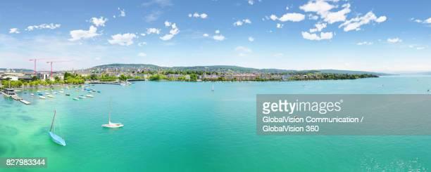 High Angle Panorama of Lake Zurich, Switzerland