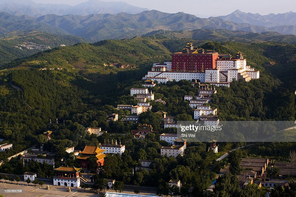 High angle scene of Temple of the Potaraka Doctrine,Chengde