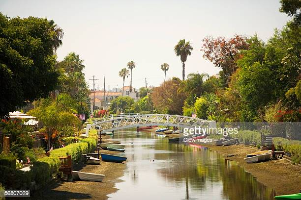 High angle view of a canal, Venice, California, USA