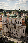 High angle view of a church, St Nicholas's Church, Prague, Czech Republic