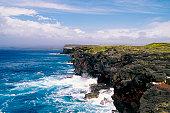 High angle view of a coast, Kalae, Hawaii, USA