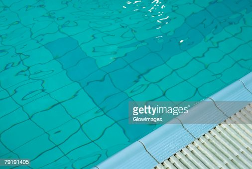 High angle view of a swimming pool : Foto de stock