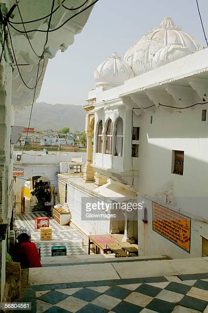 High angle view of a temple, Pushkar, Rajasthan, India