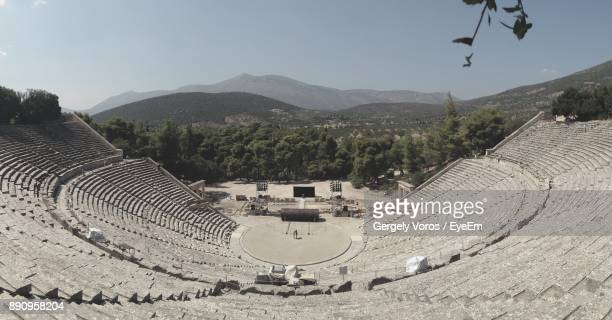 High Angle View Of Amphitheater