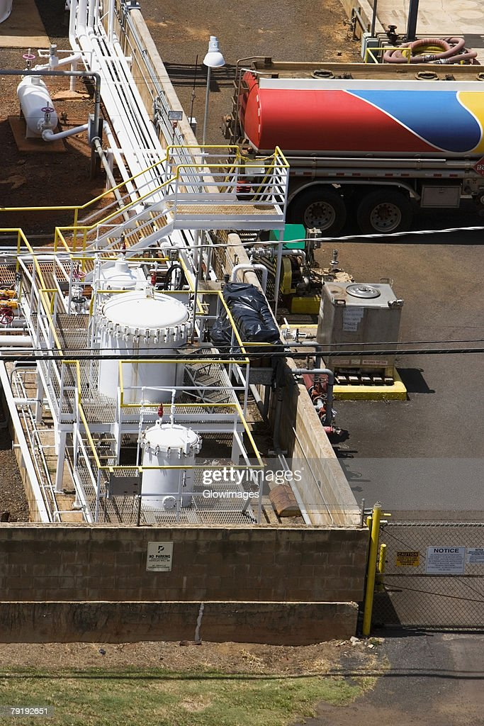 High angle view of an industry : Foto de stock