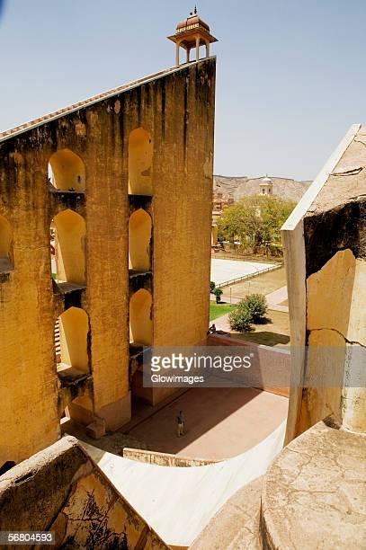 High angle view of an observatory, Jantar Mantar, Jaipur, Rajasthan, India